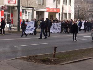 peacful protest sarajevo