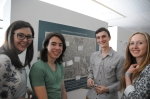 Some of the Geography students involved in the exhibition