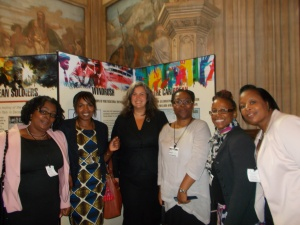 Heidi Alexander MP with guests at the touring exhibition launch event (9th June 2014)