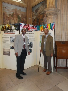 Arthur Torrington CBE and Sam King MBE, co-founders of the education charity Windrush Foundation, at the exhibition launch event (Houses of Parliament, 9th June 2014)