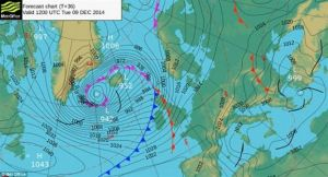 The bomb as of 9 December.  Met Office