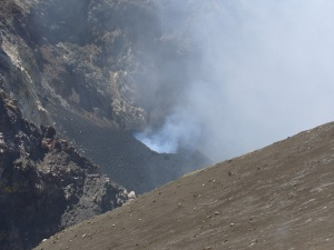 A view into the Bocca Nuova crater during the measured explosive activity.
